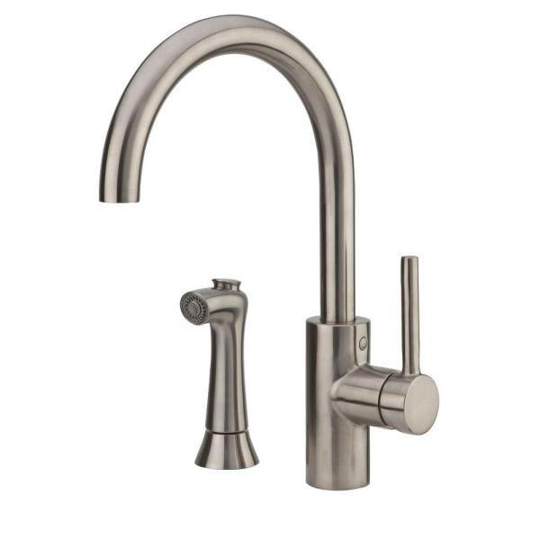 Pfister Solo Kitchen Faucet LF-029-4SLS Stainless Steel With Sidespray