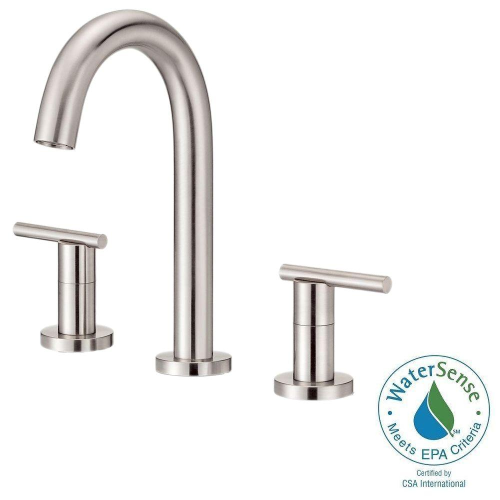 Danze Parma 8 in. Widespread 2-Handle High-Arc Trim Line Bathroom Faucet in Brushed Nickel