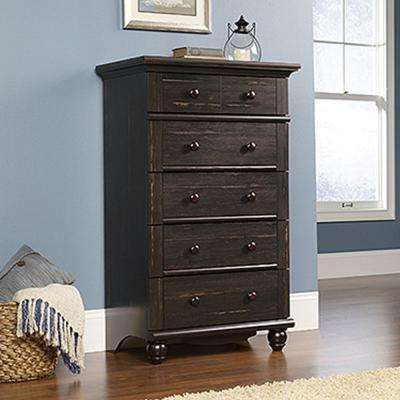 Harbor View 5-Drawer Antiqued Paint Chest