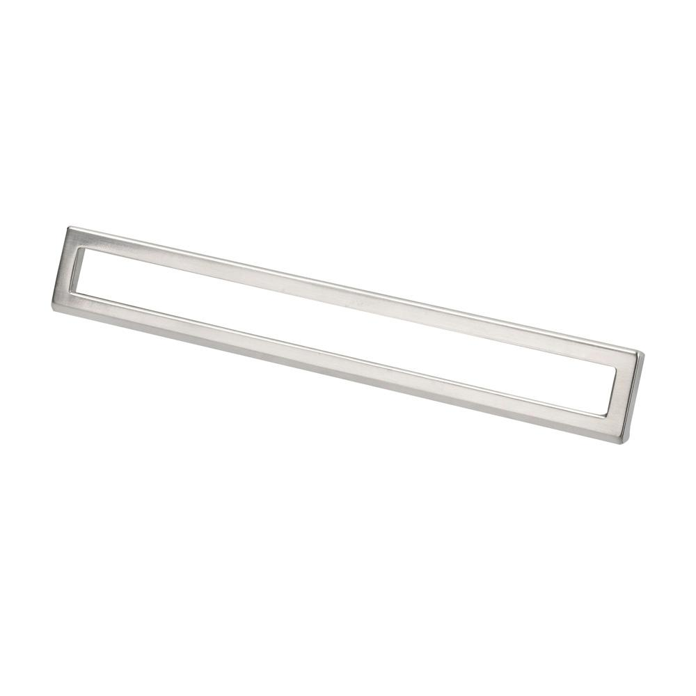 Topex Italian Designs Collection 7 62 In Center To Center Satin Nickel Modern Bent Rectangular Cabinet Pull 8102222419234 The Home Depot