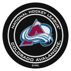 Colorado Avalanche Black 27 in. Round Hockey Puck Mat