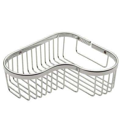 Splashables Large Corner Basket in Polished Chrome