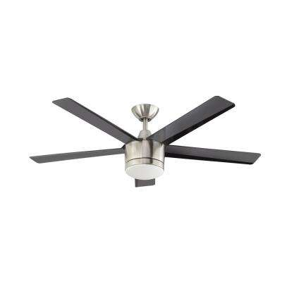 Merwry 52 in. LED Brushed Nickel Ceiling Fan