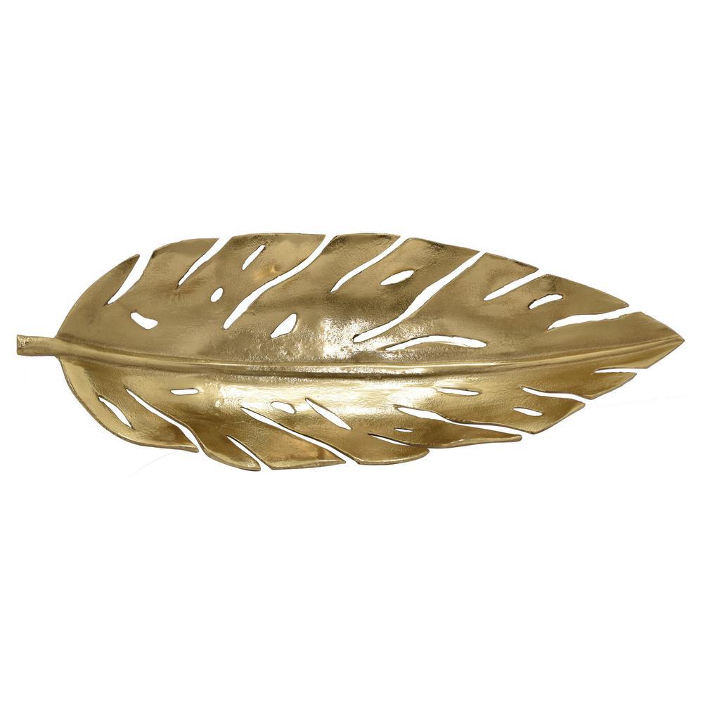 3.25 in. Gold Metal Leaf Bowl