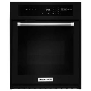 Good 30 In. Single Electric Wall Oven Self Cleaning With Convection In Black