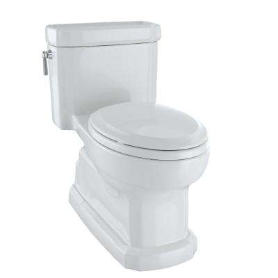 Eco Guinevere 1-Piece 1.28 GPF Single Flush Elongated Skirted Toilet with CeFiONtect in Colonial White