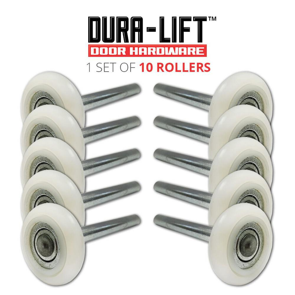 Ultra-Quiet 2 in. Nylon Garage Door Roller with 13-Ball Bearing and