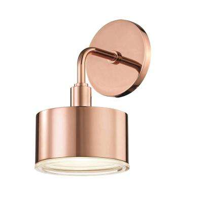 Nora 1-Light Polished Copper LED Wall Sconce