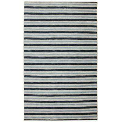Monterey Stripe Blue 7 ft. 6 in. x 10 ft. Area Rug