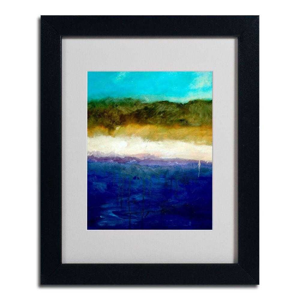 Trademark Fine Art 11 in. x 14 in. Abstract Dunes Study Black Framed Matted Art
