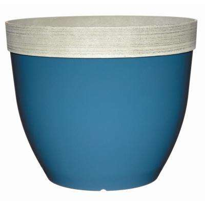 Sanibel 22 in. Peacock Blue Plastic Planter