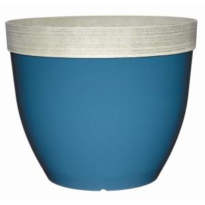 Sanibel 22 inch Peacock Blue Plastic Planter by