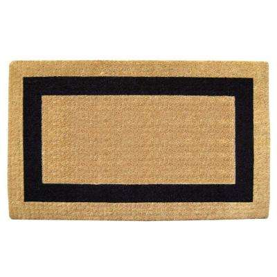 Single Picture Frame Black 22 in. x 36 in. HeavyDuty Coir Door Mat
