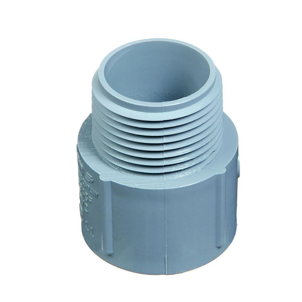 Carlon 3/4 in. PVC Male Adapter ((Case of 8) 15-Pack)