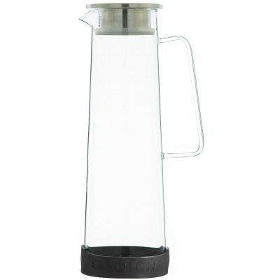 Bali 50 oz. Clear Glass Water Infusion Pitcher