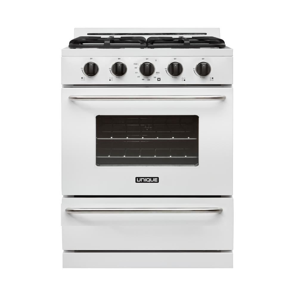 30 in. 3.9 cu. ft. Propane Off-Grid Gas Range with Battery
