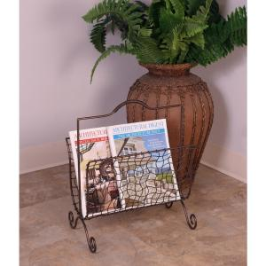 Bronze Freestanding Magazine Rack by