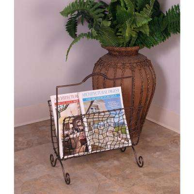 Bronze Freestanding Magazine Rack