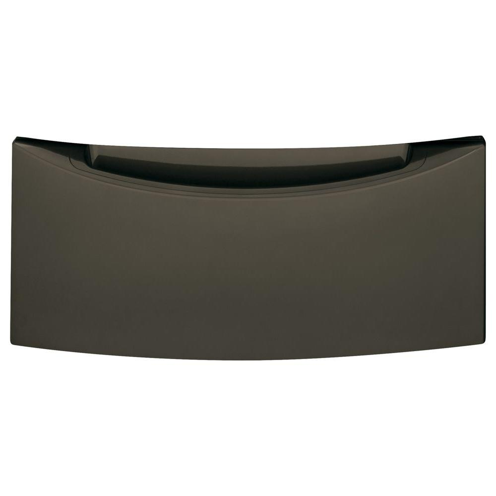 GE 13 in. Laundry Pedestal with Storage Drawer in Metallic Carbon