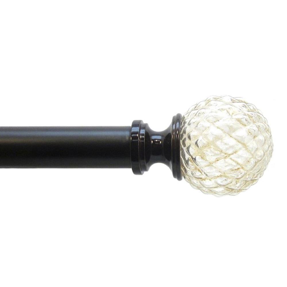72 in. - 144 in. 1 in. Amber Glass Rod Set in Bronze