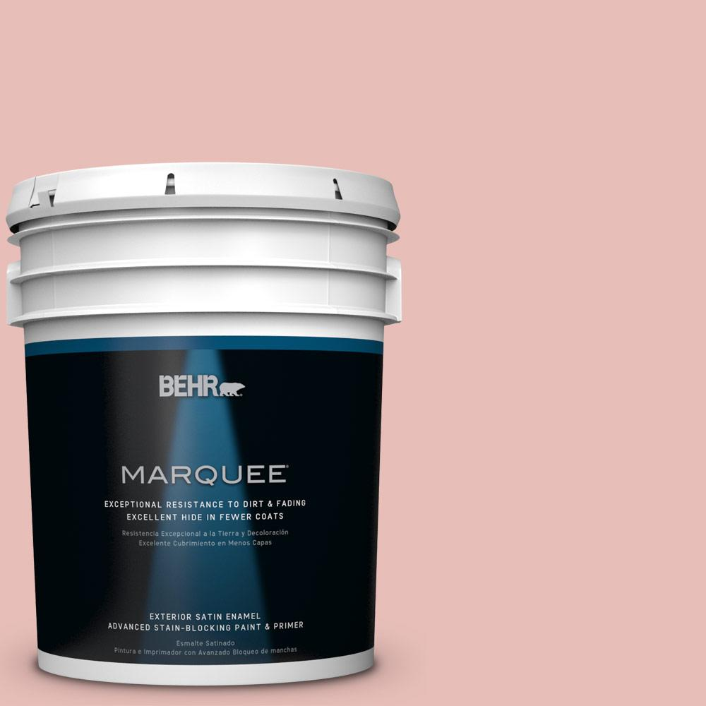 5 gal. #T18-01 Positively Pink Satin Enamel Exterior Paint