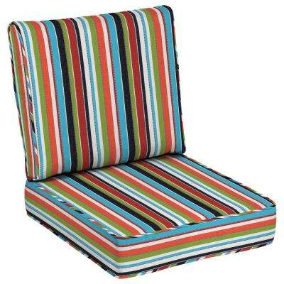 Sunbrella Carousel Confetti Outdoor Lounge Chair Cushion