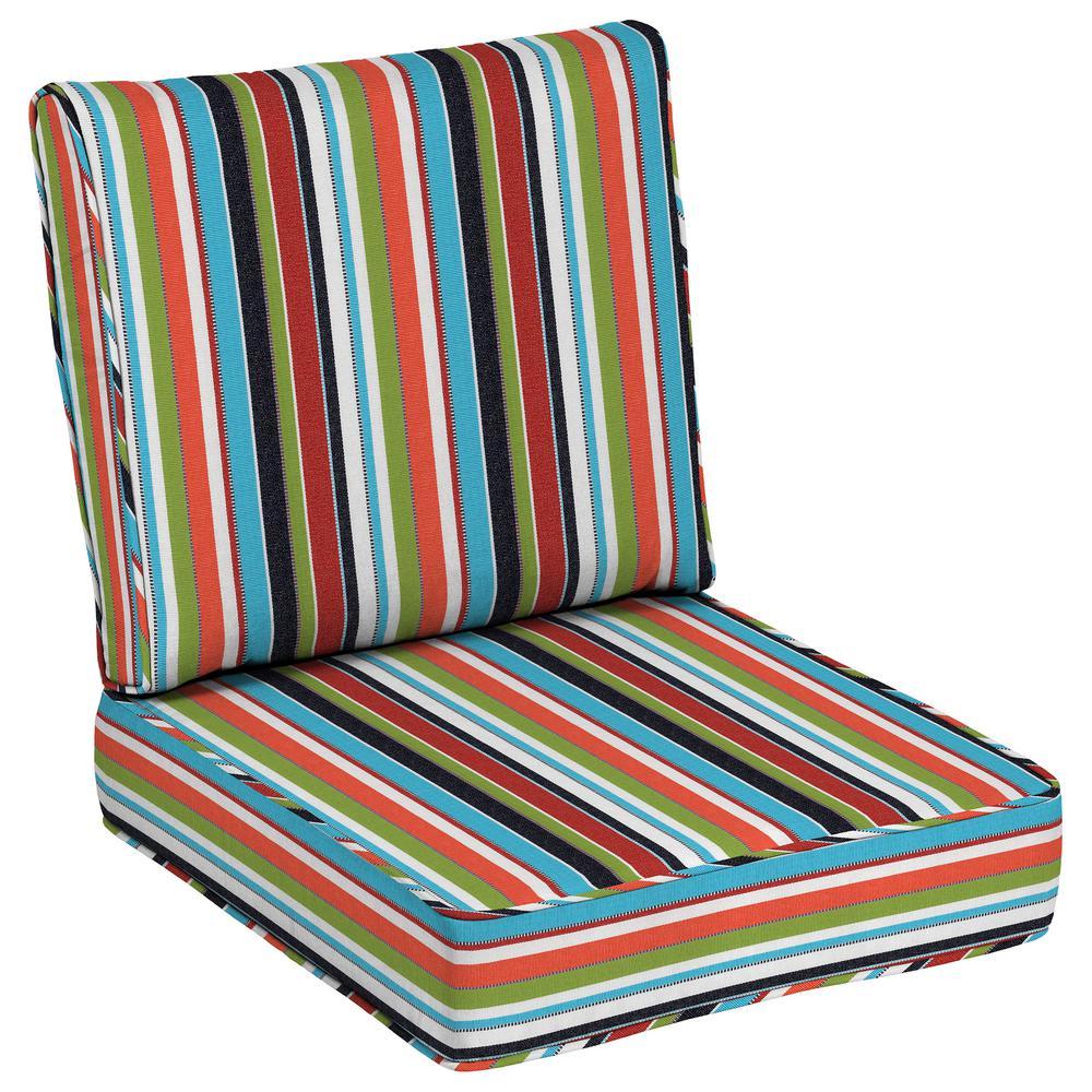24 x 24 Sunbrella Carousel Confetti Outdoor Lounge Chair Cushion