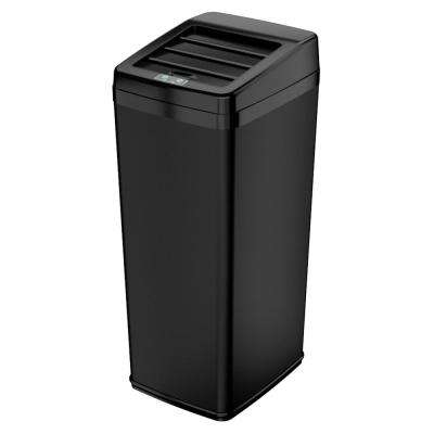 14 Gal. Black Motion Sensing Touchless Trash Can