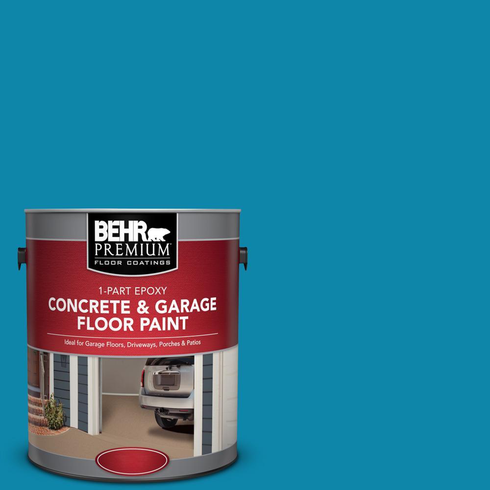 1 gal. #P490-6 Hacienda Blue 1-Part Epoxy Concrete and Garage Floor Paint