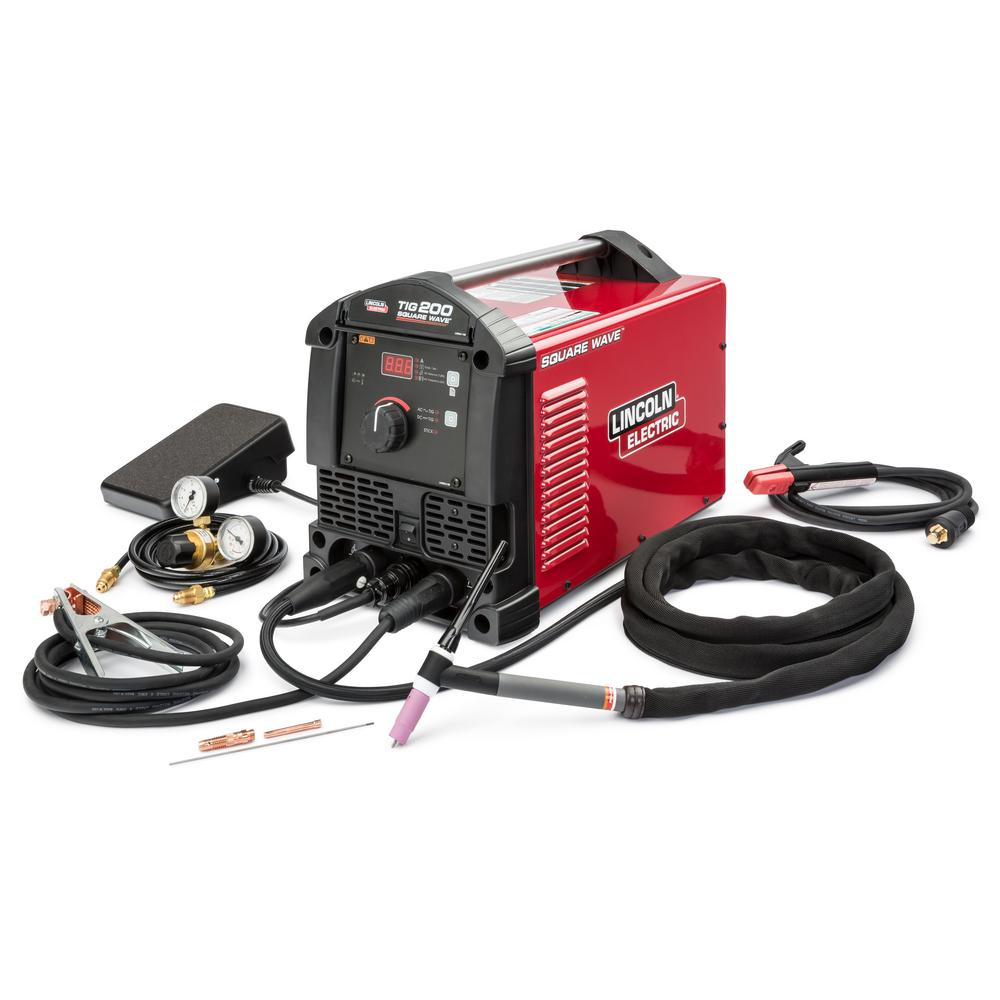 Lincoln Electric 200 Amp. Square Wave TIG 200 TIG Welder with Torch and Foot Pedal 120-Volt/230-Volt