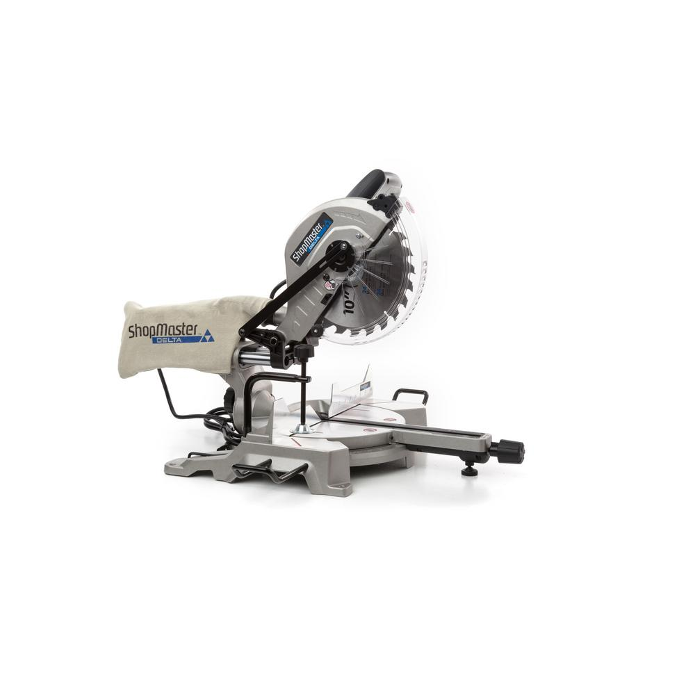 Shopmaster 15 Amp 10 in. Sliding Compound Miter Saw with Shadow Line Cut Guide