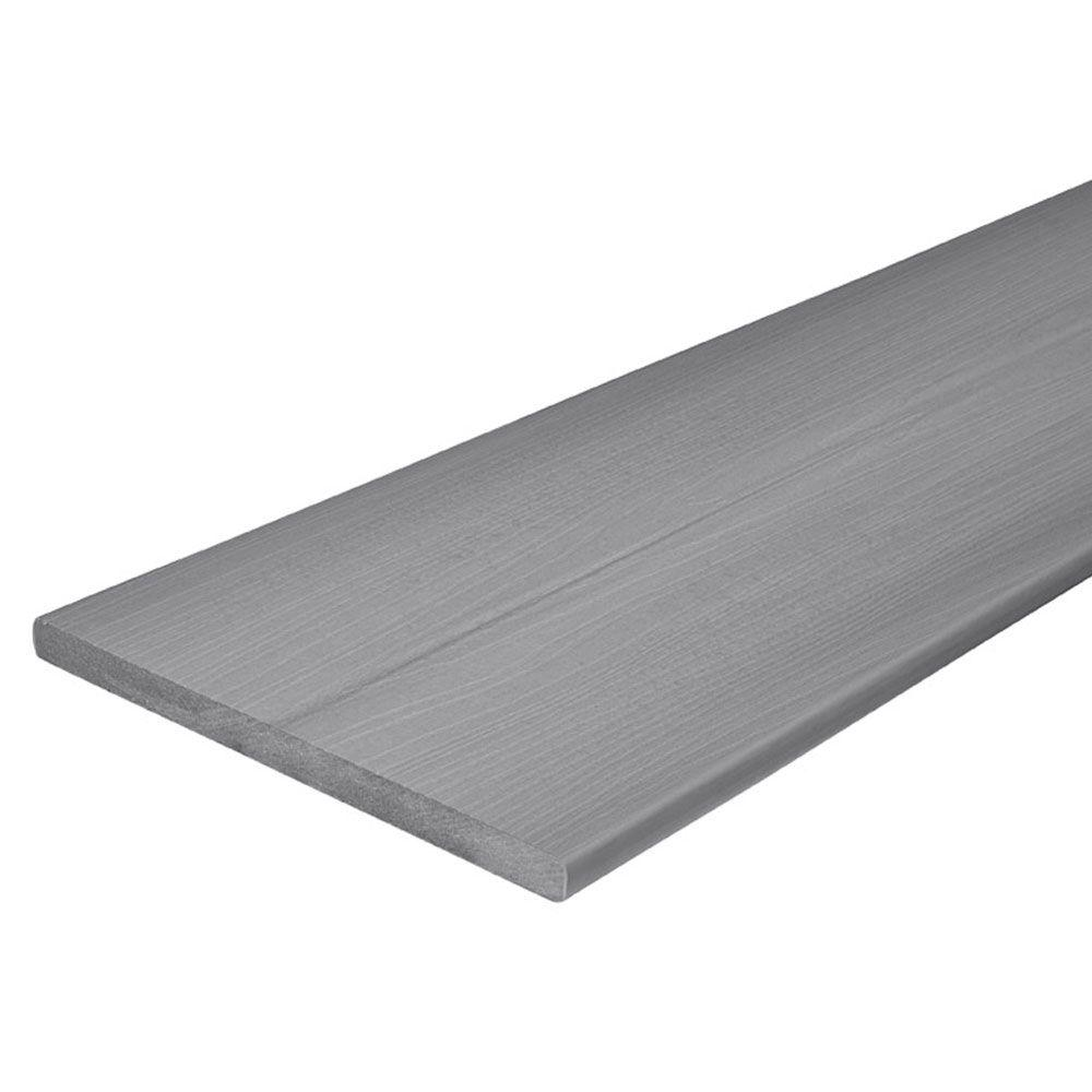 Fiberon horizon 3 4 in x 11 1 4 in x 12 ft castle gray for Composite deck boards reviews