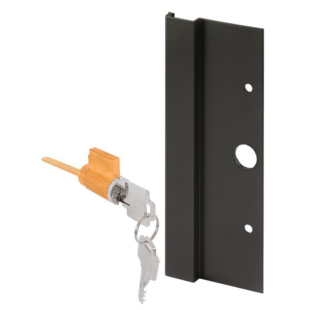 Black Aluminum Sliding Door Outside Pull with Key