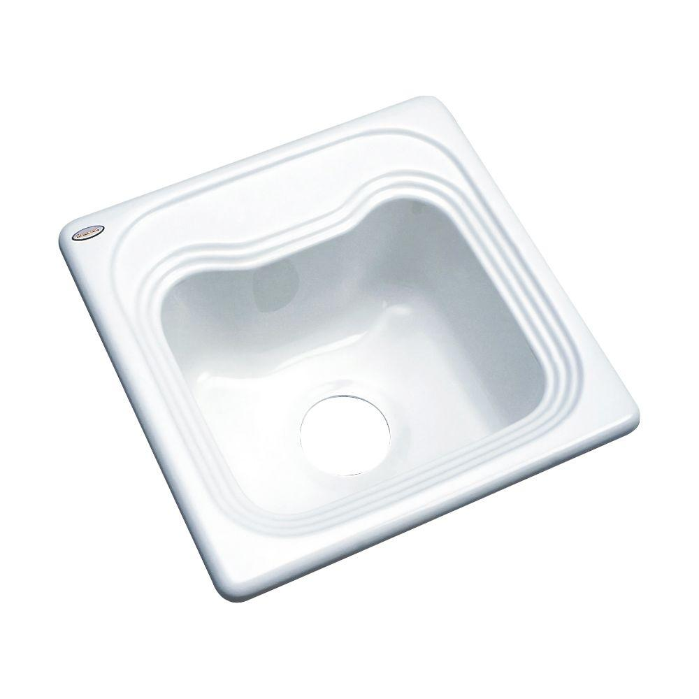 Thermocast Oxford Drop-In Acrylic 16 in. Single Bowl Entertainment Sink in White