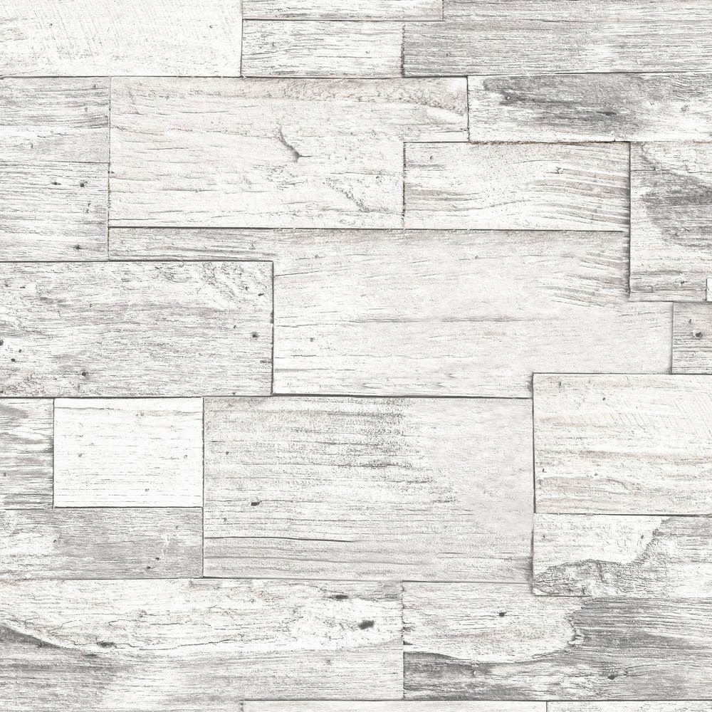Strata Shiplap Wood Beige Removable Wallpaper