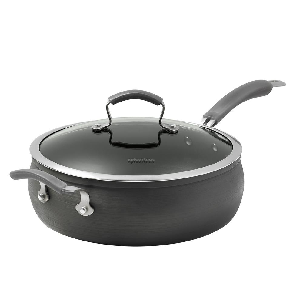 6 Qt. Hard Anodized Jumbo Cooker with Lid and Assist Handle