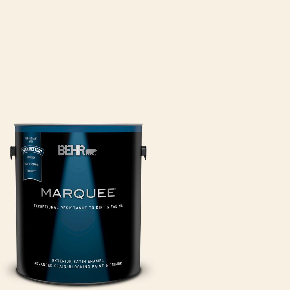 Behr Marquee 1 Gal W D 710 Creamy White Satin Enamel Exterior Paint And