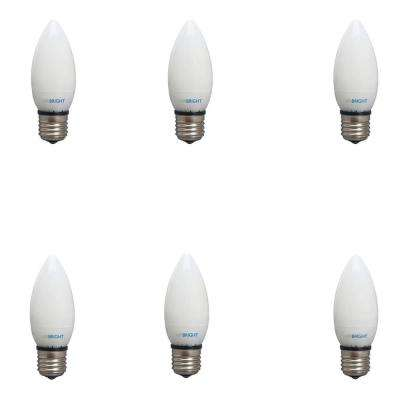 25 Watt Equivalent (2,700K) B10 Non-Dimmable 90+ CRI Chandelier LED Light Bulb, Warm White (6-Pack)