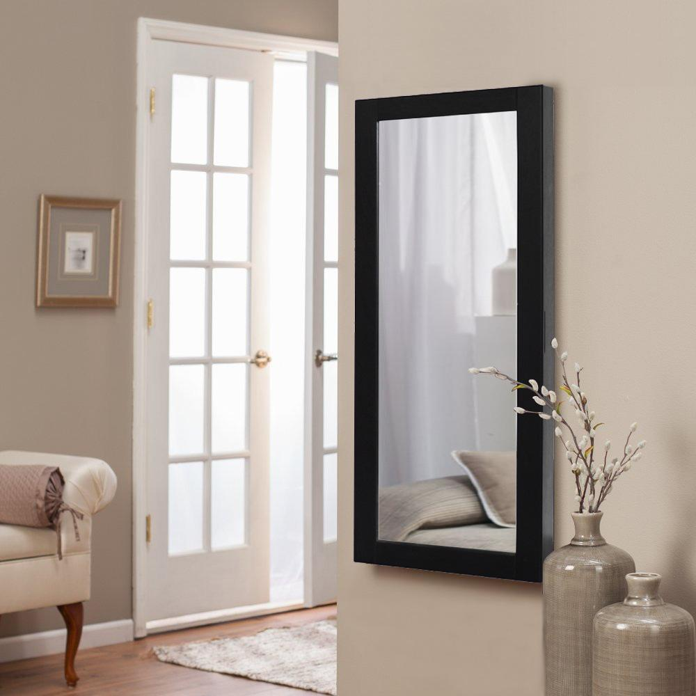 Charlotte Black Hanging Jewelry Armoire