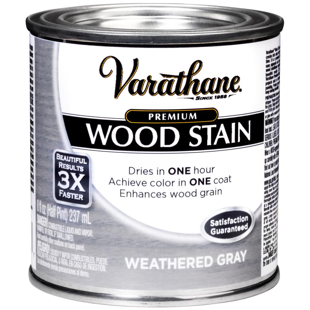 Weathered Gray Premium Fast Dry Interior Wood Stain 267131 The Home Depot