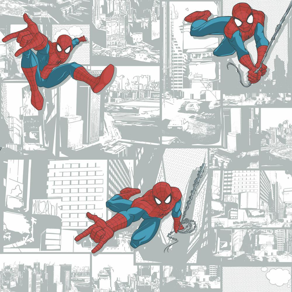 York Wallcoverings Disney Kids III Marvel Ultimate Spiderman Comic Wallpaper