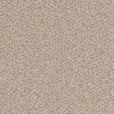 Carpet Sample - Soft Breath I - Color Fawn Creek Texture 8 in. x 8 in.