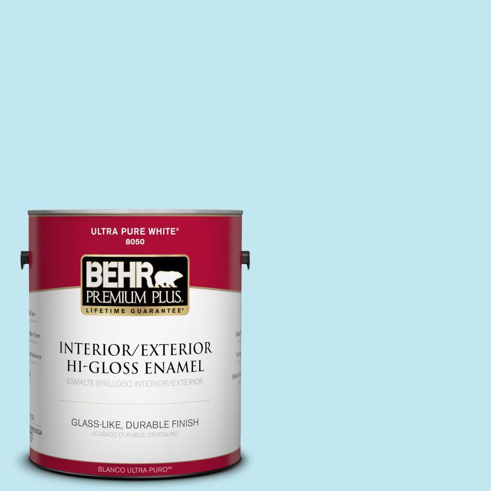1-gal. #520A-2 Ice Flower Hi-Gloss Enamel Interior/Exterior Paint