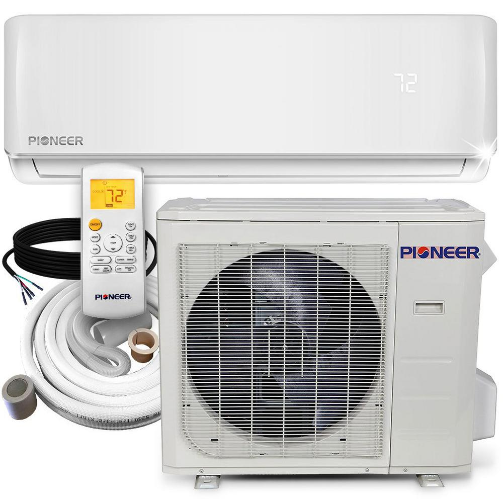 36,000 BTU 3 Ton 16 SEER Ductless Mini Split Air Inverter+ Wall Mounted Air Conditioner with Heat Pump 208/230V