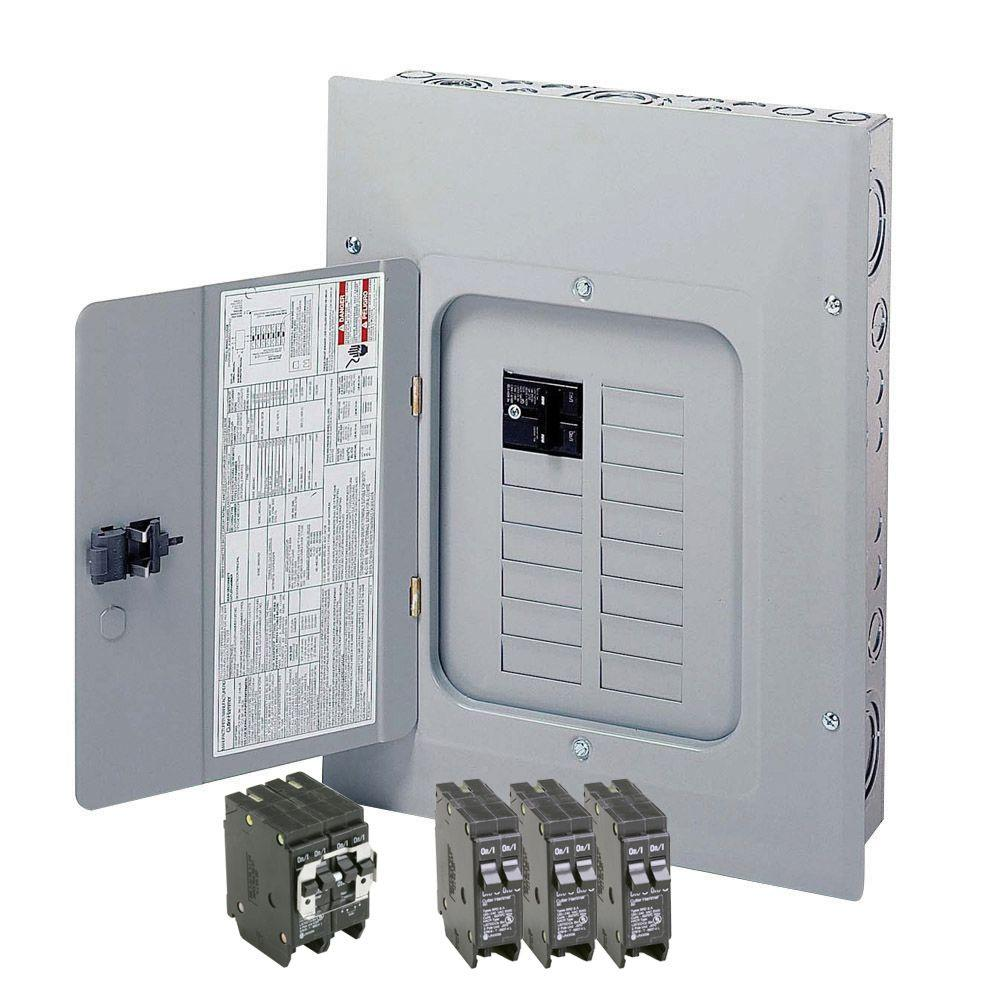 Eaton Br 125 Amp 12 Space 24 Circuit Indoor Main Breaker Loadcenter Home Wiring Box With Cover