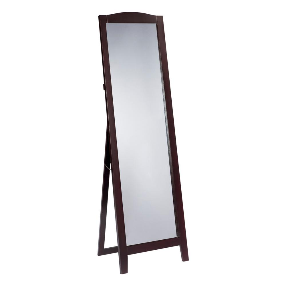 Kings Brand Furniture Cherry Wood Frame Easel Dressing Floor Mirror ...