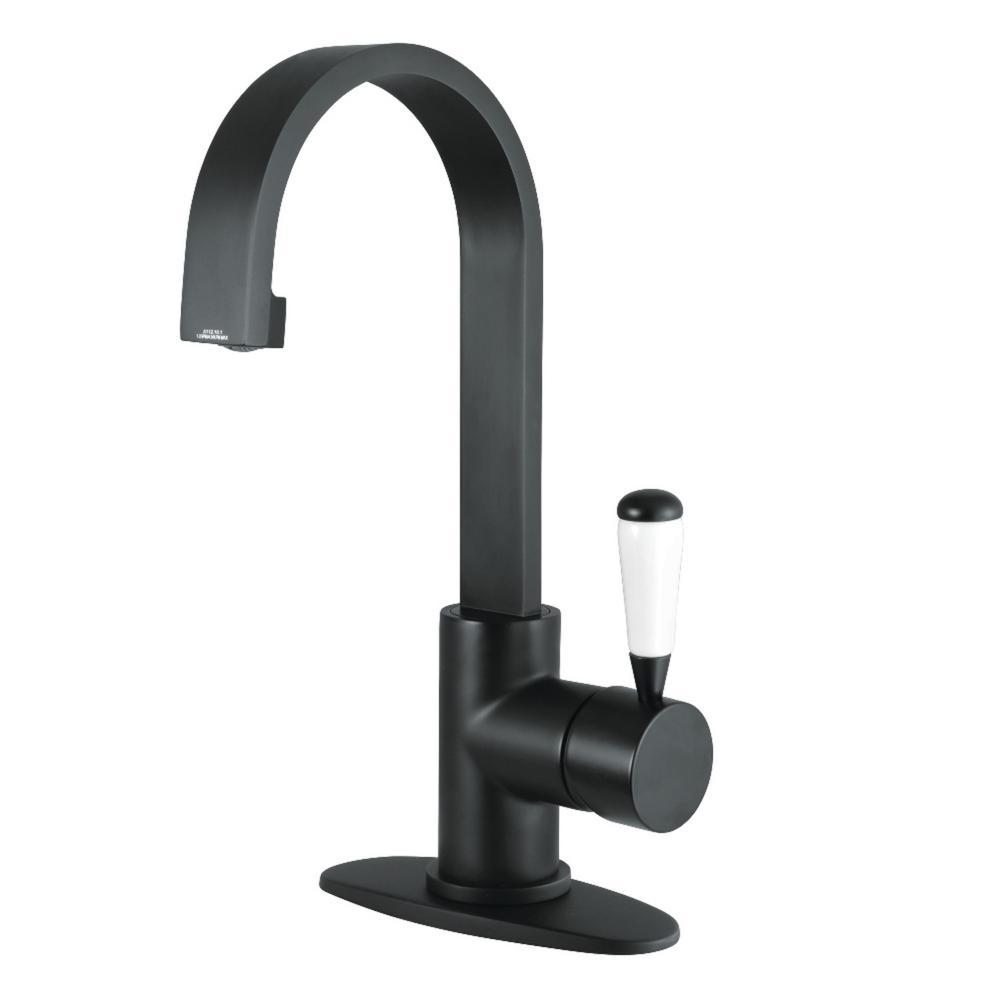 Paris Single Hole Single-Handle Bathroom Faucet in Matte Black