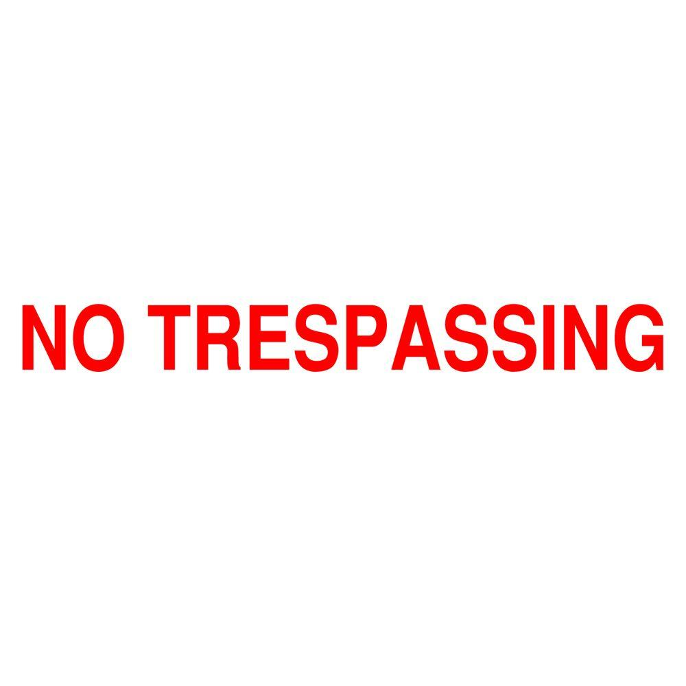 Brady 7 in. x 10 in. No Trespassing Safety Sign