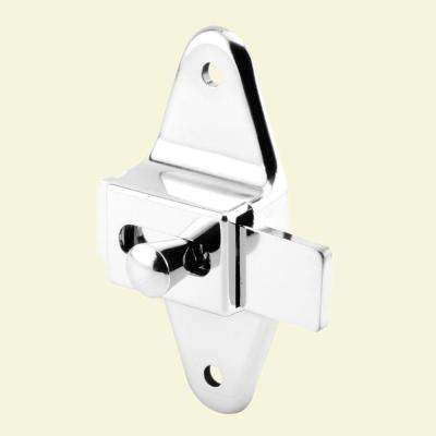 3-1/2 in. Hole Centers Chrome Slide Latch
