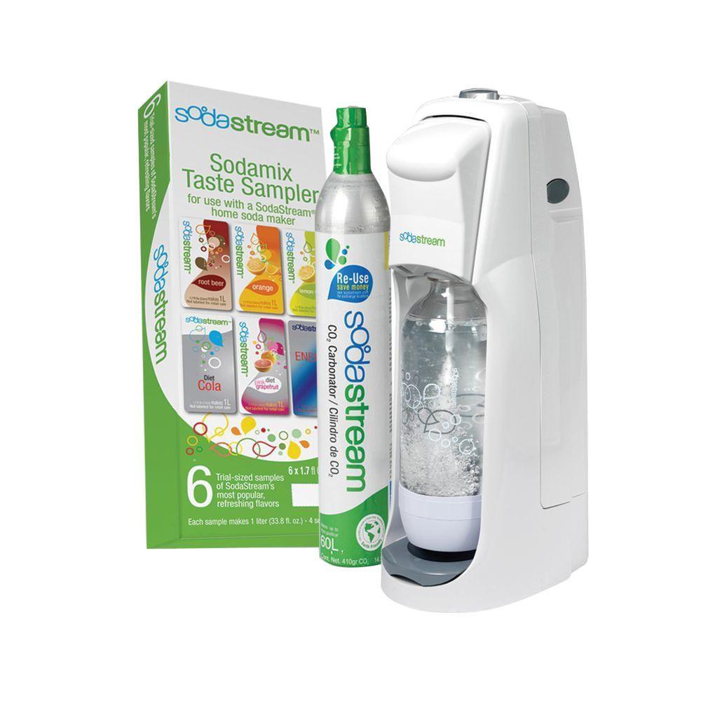 SodaStream Fountain Jet Home Soda Maker Starter Kit in White